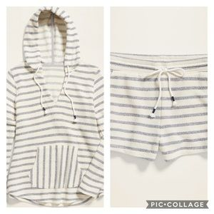 Old Navy Stripe Terry Pull-over and shorts